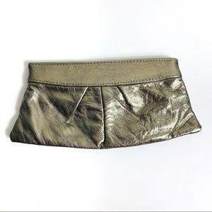 Lauren Merkin Metallic Pewter Louise Clutch